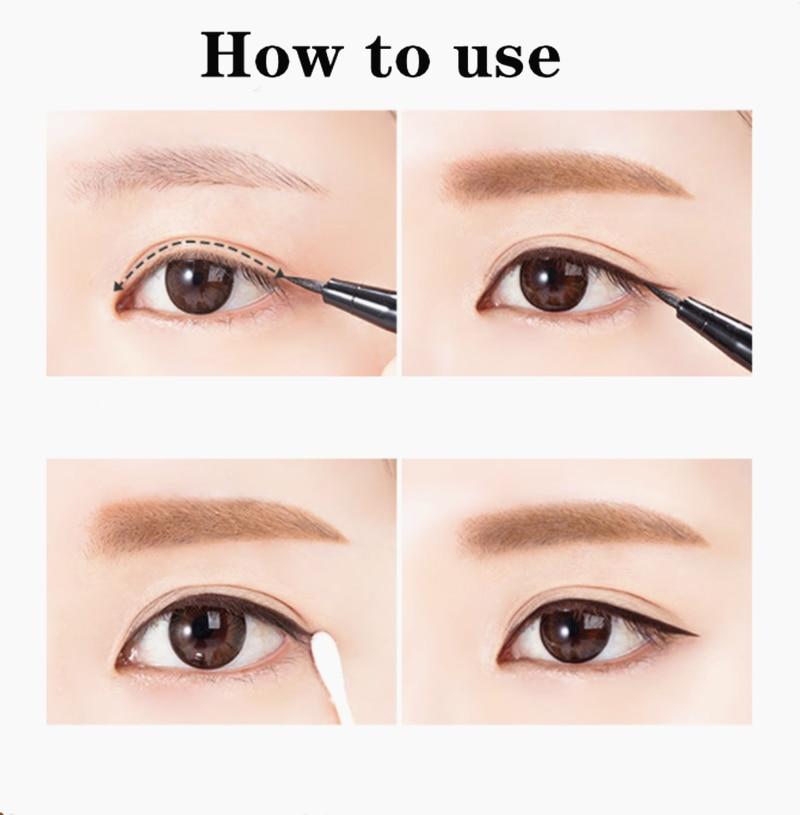 1Pc flambant neuf beauté maquillage cosmétique noir longue durée imperméable Eyeliner liquide Eye Liner stylo crayon maquillage beauté outil ensemble