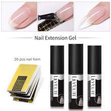 Lilycute Quick Poly Extension Gel Kit Nail Art Franse Nail Art Clear Roze Kleur Nail Tip Vorm Kristal Uv Gel nail Art Set(China)