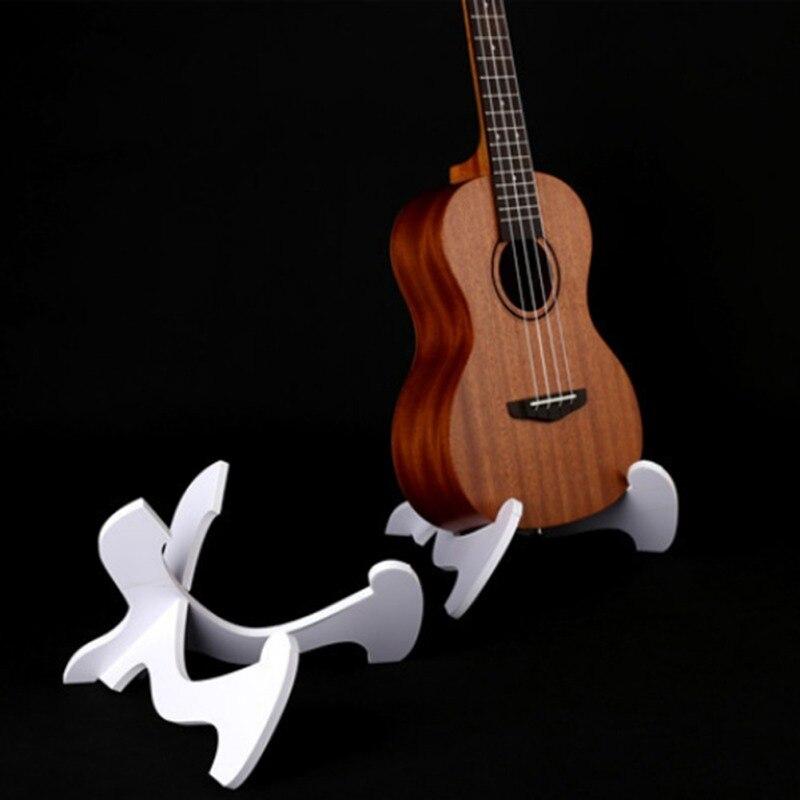 Guitar Accessories Foldable Hardwood Ukulele Bass PVC Collapsible Holder Stand Ukulele Violin Mandolin Banjo Accessories