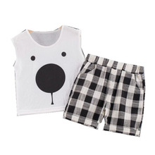 New Fashion Summer Baby Boys Girls Clothes Children Cotton Vest  Shorts 2Pcs/sets Toddler Casual Costume Infant Kids Tracksuits