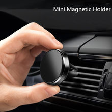 Universal magnético liga de alumínio suporte do telefone do carro suporte de navegação de ventilação do carro universal do telefone móvel preguiçoso pessoa