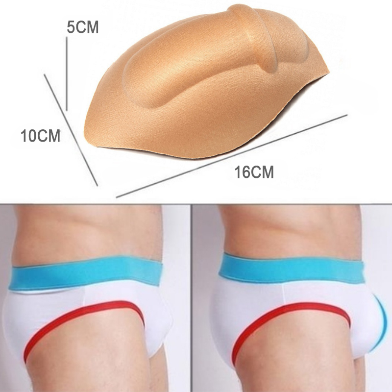 Sexy Bulge Gay Penis Pad Magic Buttocks Removable Push Up Cup Bulge Cup Pads Sponge Cup Enhancing Men Underwear Briefs