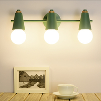 Nordic LED Mirror Light wooden Wall lights bedside Wall lamp E27 sconce Modern For Bathroom Make Up Dressing Room Fixtures