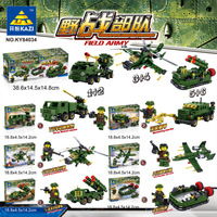 KAZI Military Series 84034 Field Operations Forces 6 in 3 Children'S Educational Assembled Small Particles Plastic Building Bloc
