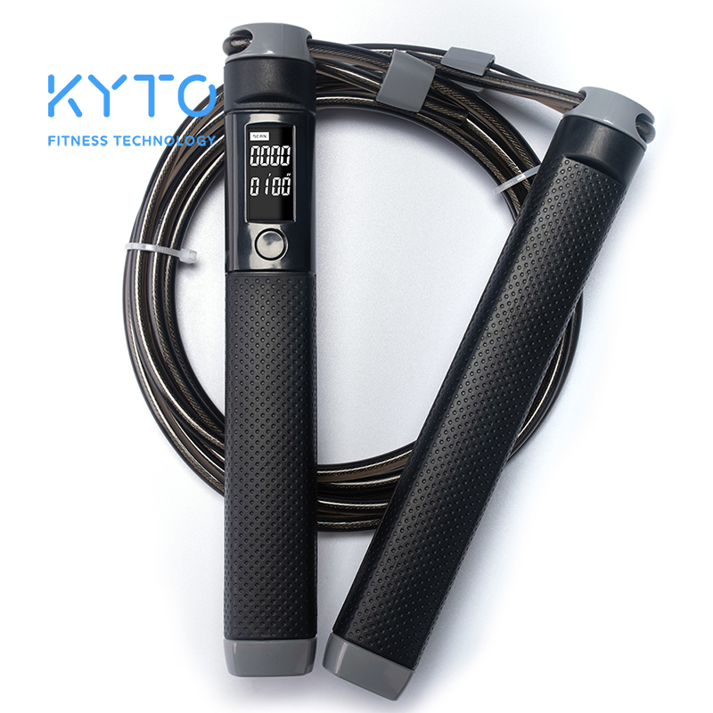 Скакалка KYTO, цифровой счетчик калорий для тренировок в помещении и на улице