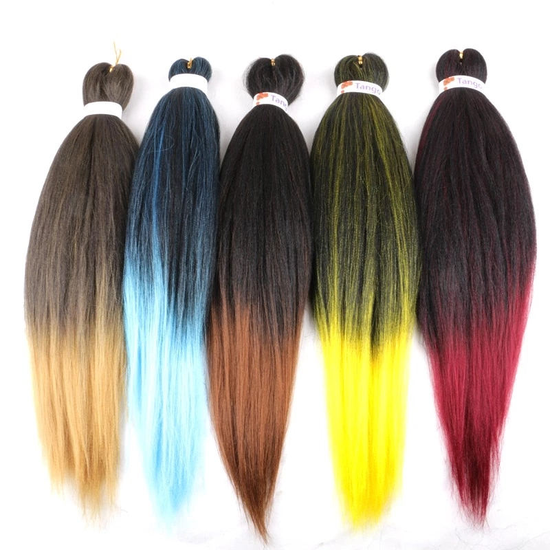 EZ Hand Made Synthetic Braiding Hair For Black Fiber Woven Crochet Hair Extension Professional High Temperature Fiber Natural