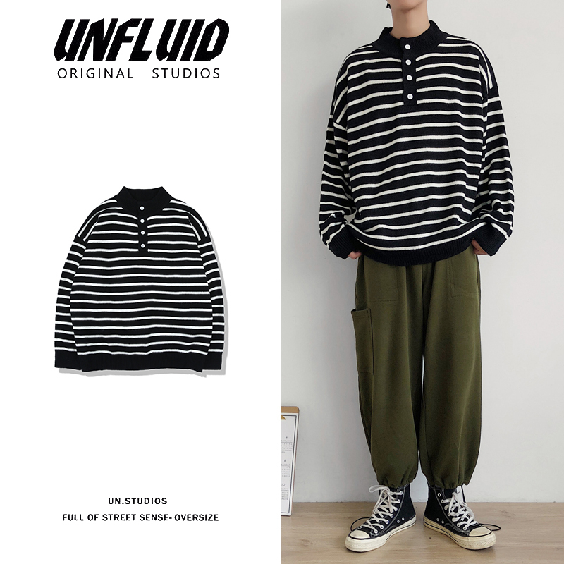 Sweater Men Warm Fashion Contrast Casual O-Neck Knit Pullover Men Streetwear Wild Striped Long Sleeve Sweater Male Clothes