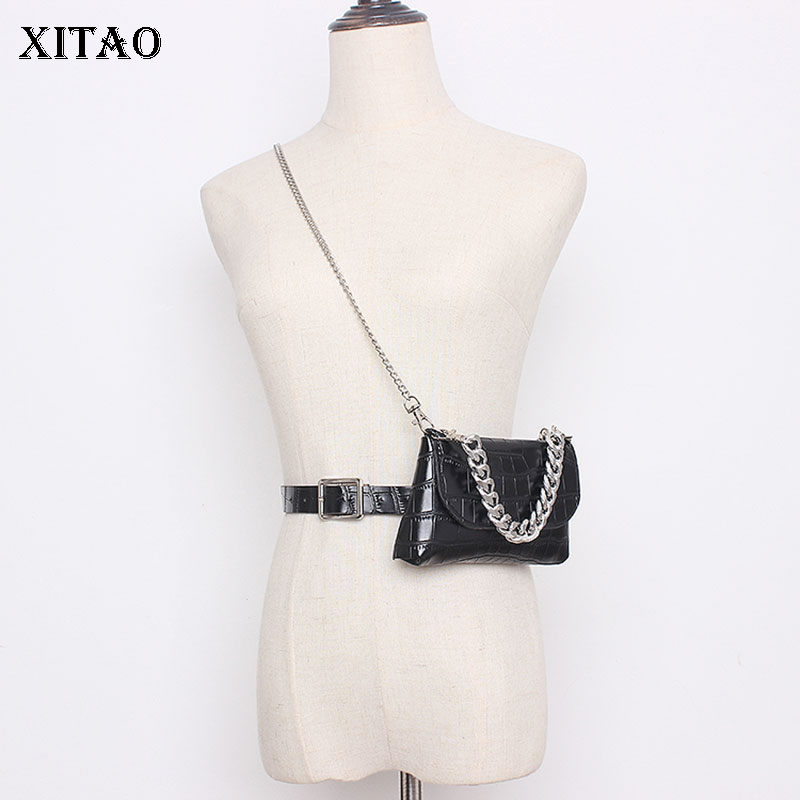 XITAO Chain Accessory Bag Crocodile Pattern Cummerbunds Fashion New Women 2020 Spring Full Sleeve Casual Minority XJ3441