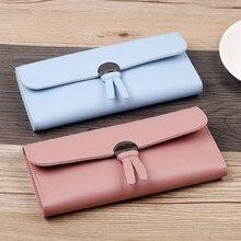 Women'S Long Wallet Multi-Card Three-Fold Folding Coin Purse Multiple Colour Wallet Women High Quality Soft PU Fashion Wallet цена 2017