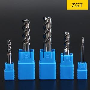 Image 2 - ZGT Aluminum Copper Wood Cutter Endmill HRC50 3 Flute Cnc Milling Tools Tungsten Steel Milling Cutter End Mill 1mm 2mm 3mm 4mm