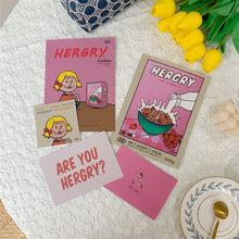 Ins Beliebte Stil Koreanische Rosa Süße Mädchen Herz Kleine Poster Postkarte Nette Cartoon Handy Hand Konto Dekoration Requisiten