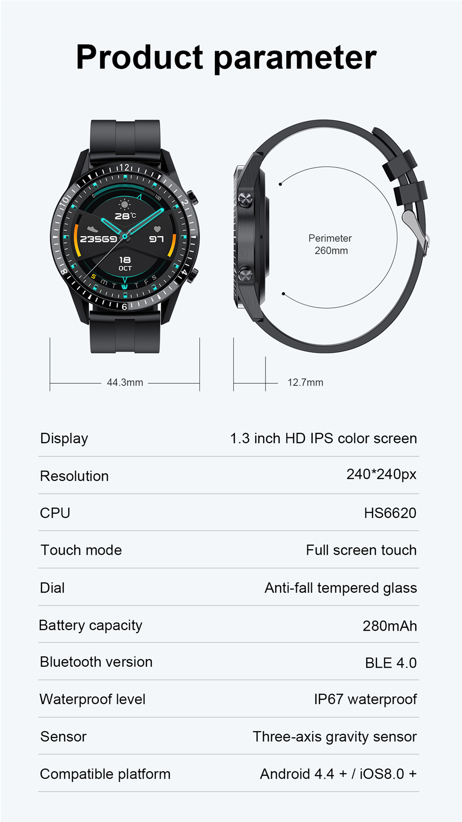 Hbf425333467b464fa4c11acfb27c0e28R 2021 Smart Watch Phone Full Touch Screen Sport Fitness Watch IP68 Waterproof Bluetooth Connection For Android ios smartwatch Men