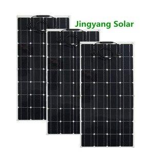 Image 3 - 200 ワット 300 ワット 400 ワット 500 ワット柔軟なソーラーパネル等しい 2pccs 3 個 4 個 5 個 100 ワットのパネルソーラーモノラル太陽電池用ボート/カー/ホーム屋根