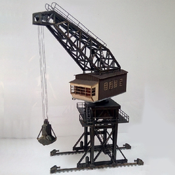 1:87 HO Scale Train Railway Scene Decoration Large-Scale Coal Crane Model For Sand Table