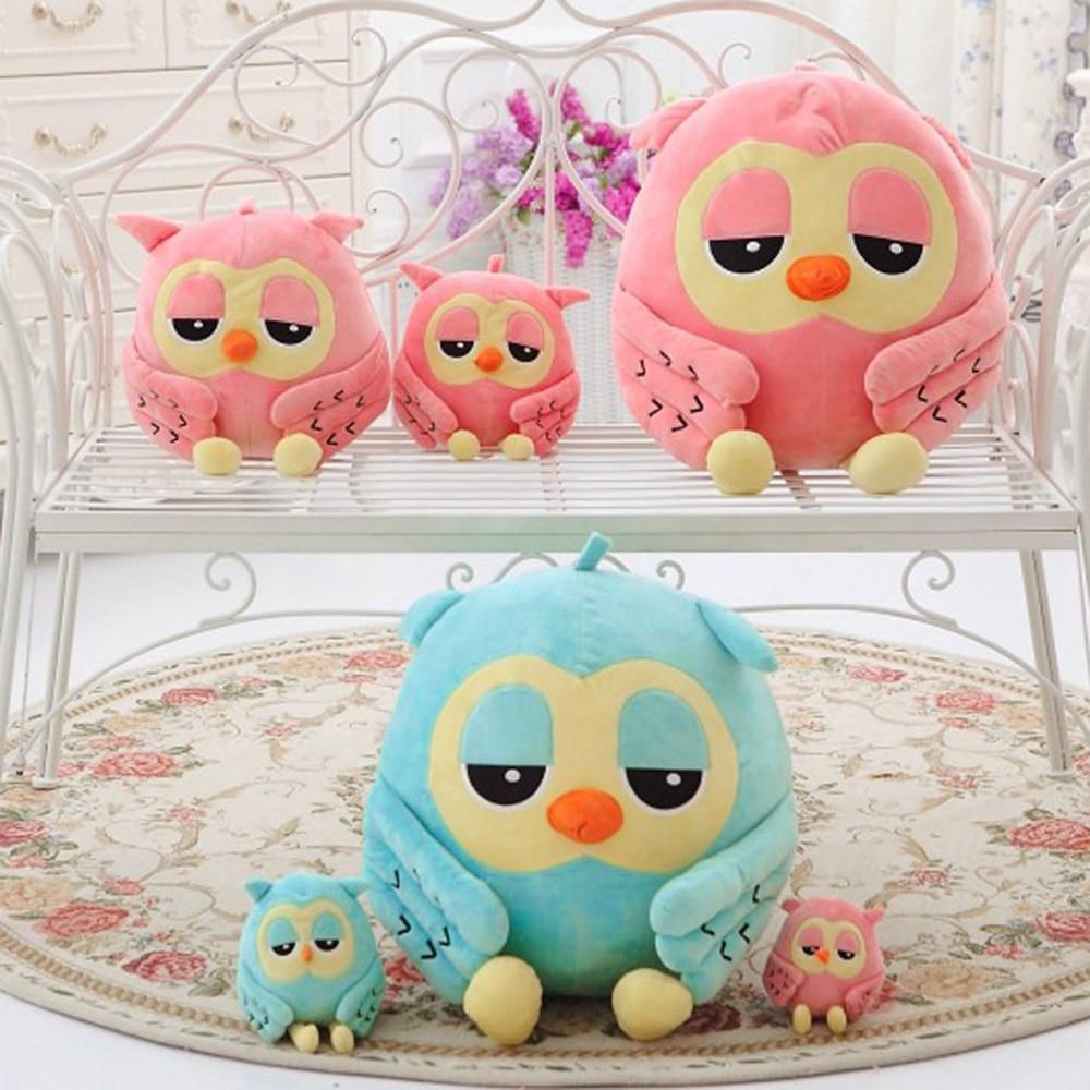 Plush-Toy Cuddly Animal-Doll Kids Children Lovely for 18cm Blue Ideal Night-Owl