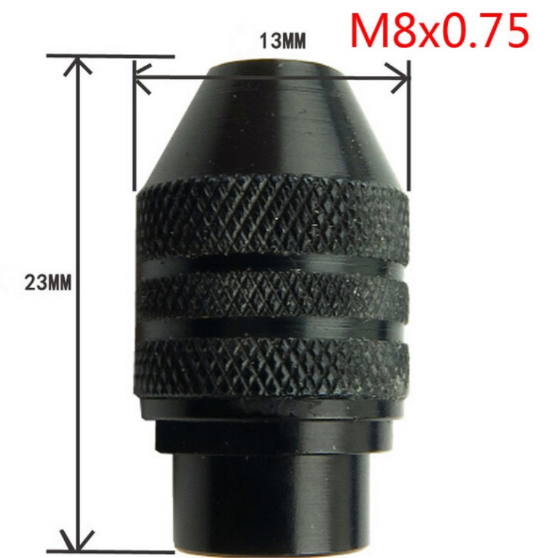 0 3 3 2mm Multi Drill Chuck Keyless For Dremel Rotary Tools Keyless Drill Bit Chucks Adapter Converter Universal Mini Chuck in Power Tool Accessories from Tools