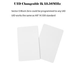 Image 2 - 50 stücke UID Karte 13,56 MHz Block 0 Sektor Beschreibbar IC Karten Klon Veränderbar Smart Keyfobs Schlüssel Tags 1K s50 RFID Access Control