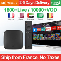 IPTV France Box Mi Box 3 4K HDR Android 8.1 2G 8G WIFI Google Cast Netflix Youtube with QHDTV IPTV 1 Year Arabic French IP TV