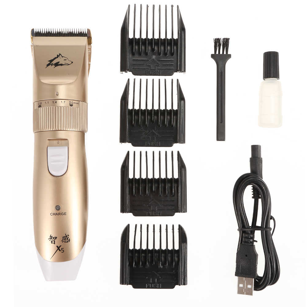 الكهربائية كلب الشعر المتقلب USB قابلة للشحن القط الحيوانات الأليفة ماكينة حلاقة كليبرز ذكي الحلاقة مشط الكلب حلاقة آلة أداة تهذيب الشعر