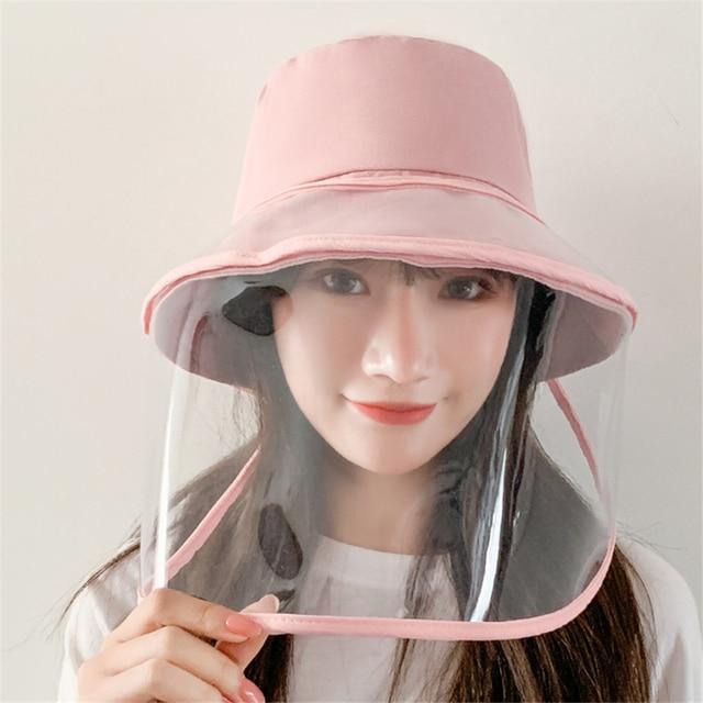Chapeau de Panama antiposthume, chapeau unisexe dété antiposthume à gros rebords, protection transparente en TPU, chapeau de pêcheur amovible