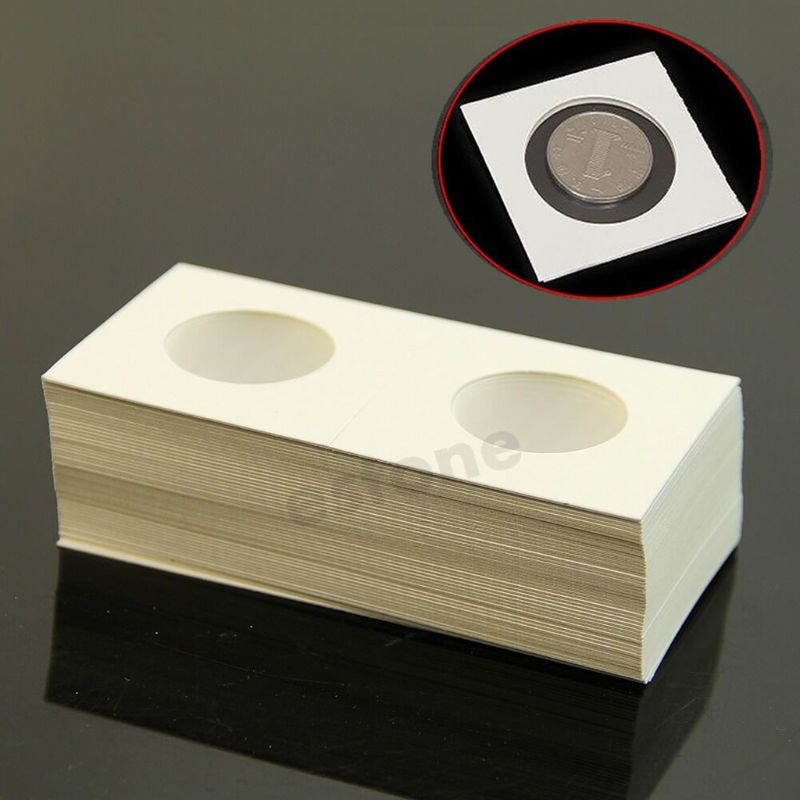 50pcs 31.5mm Lighthouse Stamp Coin Holders Cover Case Storage 2X2