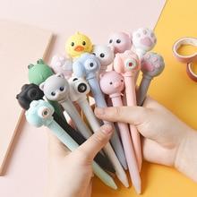 24 pcs/lot Creative Camera Gel Pen Cute Sound 0.5mm black Ink Signature Pens Promotional Gift Office School Supplies