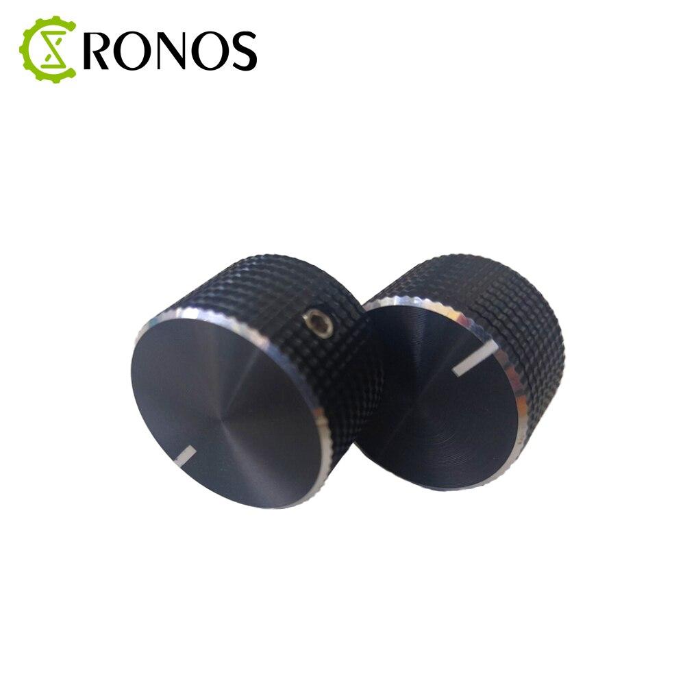 1PCS/5PCS/10PCS 25x15.5x8mm Aluminum Alloy Potentiometer Knob Rotation Switch Volume Control Knob Black In Stock