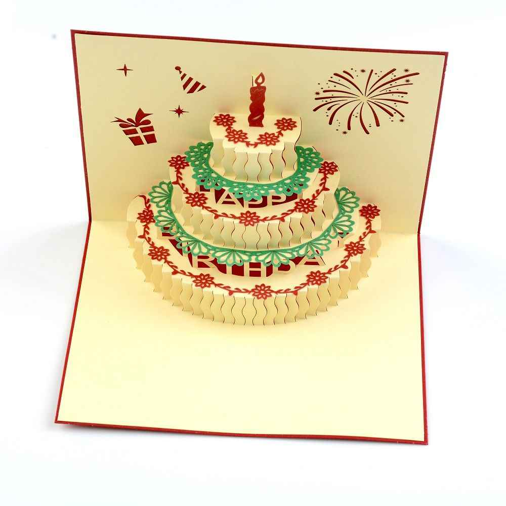 Prime 3D Pop Up Card Birthday Cake Blessing Greeting Message Christmas Funny Birthday Cards Online Chimdamsfinfo
