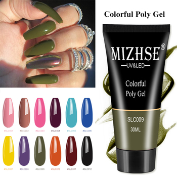 MIZHSE Nail Extension Poly Gel Set With Nial Tips Dual Form Qiuck Dry Polygel Soak Off UV Builder Gel Nail Art Gel Varnish soak off poly gel uv acryl gel quick building 15ml finger extension polygel builder gel camouflage uv led hard builder nail gel