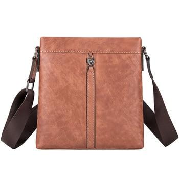 Genuine Leather Crossbody bags For Men Messenger Bag Male Men's Flap Fashion Large Capacity Shoulder Bags With Zipper Design bag