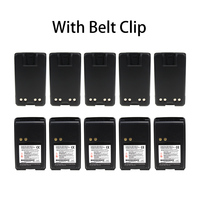10X Two-Way Radio Battery with Belt Clip for Motorola PMNN4071 PMNN4071A  Mag One BPR40 A8