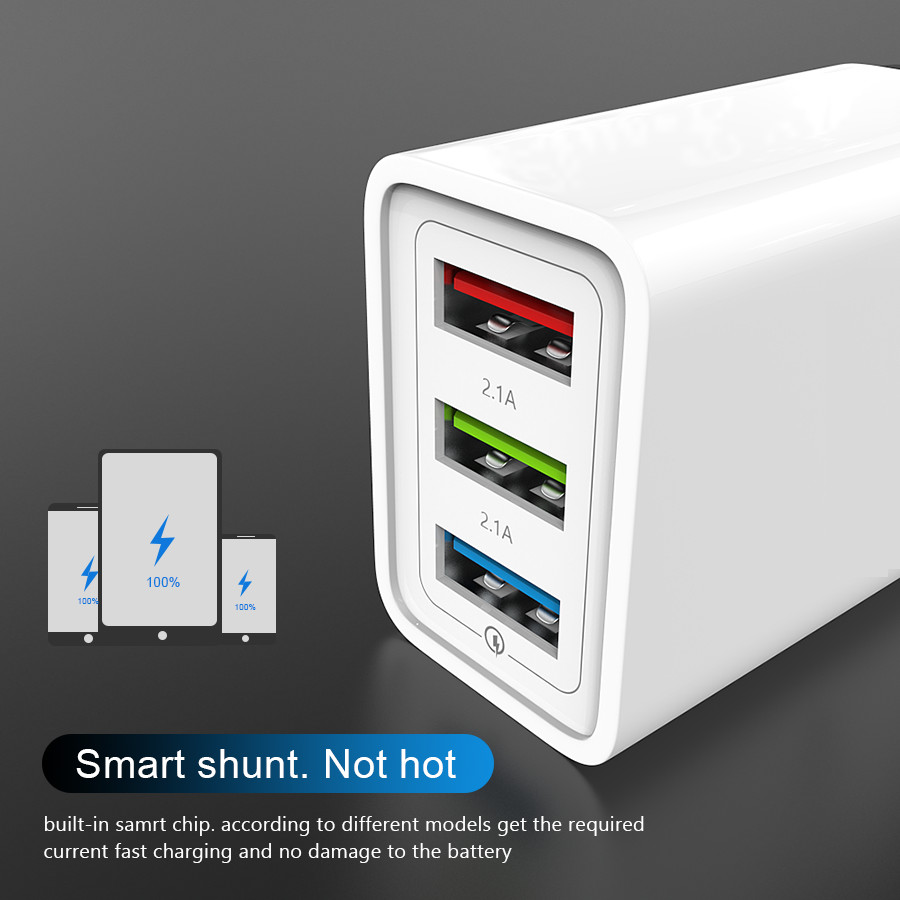 USB Charger Quick charge 3 0 Mobile Phone Charger for iPhone X 8 7 iPad EU Fast Wall Charger for Samsung S9 Xiaomi mi 8 Huawei in Mobile Phone Chargers from Cellphones Telecommunications