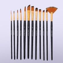 Oil-Painting-Brush Art-Supplies Watercolor-Brush-Multi-Model Acrylic Hair 12PCS Beginner