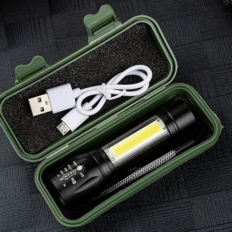 XP-G Q5 Built In 14500 Rechargeable Battery Penlight Waterproof Light Led Flashlight Torch Lamp New 2000 Lumens Shock Resistant