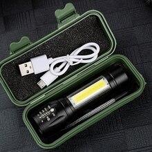 XP G Q5 Eingebaute 14500 Usb wiederaufladbare Batterie Penlight Wasserdichte LED Taschenlampe Taschenlampe 2000 Lumen Laterne für Camping