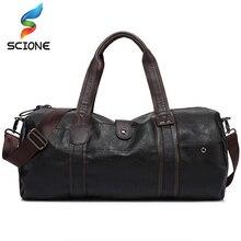 Спортивная сумка большой ёмкости из искусственной кожи Фитнеса для путешествий мужские сумки чёрный; коричневый