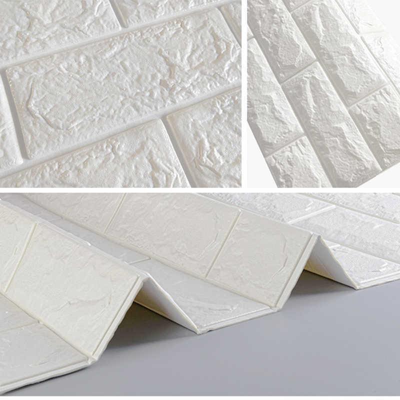 10 pçs auto adesivo à prova dwaterproof água tv fundo tijolo wallpapers 3d adesivo de parede sala estar quarto mural decorativo