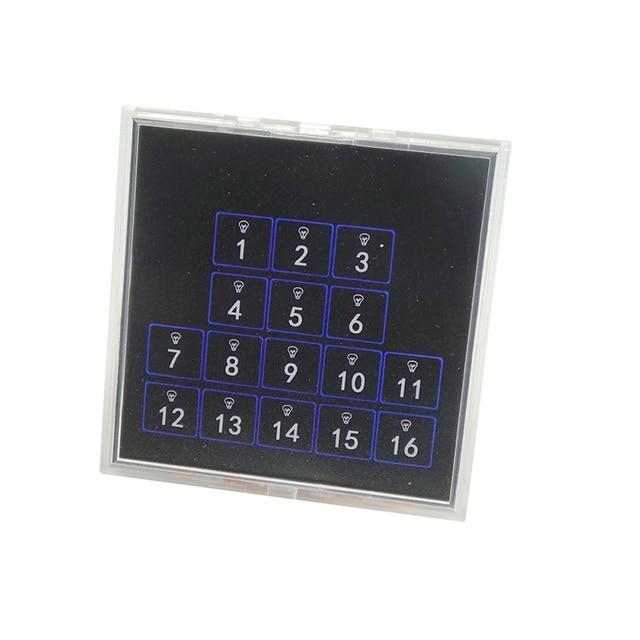 Kincony 16ボタン自己リセットスイッチ、トグルスイッチ壁パネル86*86モジュールためKC868スマートホームオートメーションコントローラマニュアル制御12v