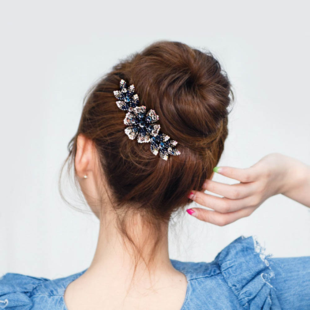 Details about  /Women/'s Comb Clips Flower Crystal Pins Grips Hair Accessories Barrettes Slide