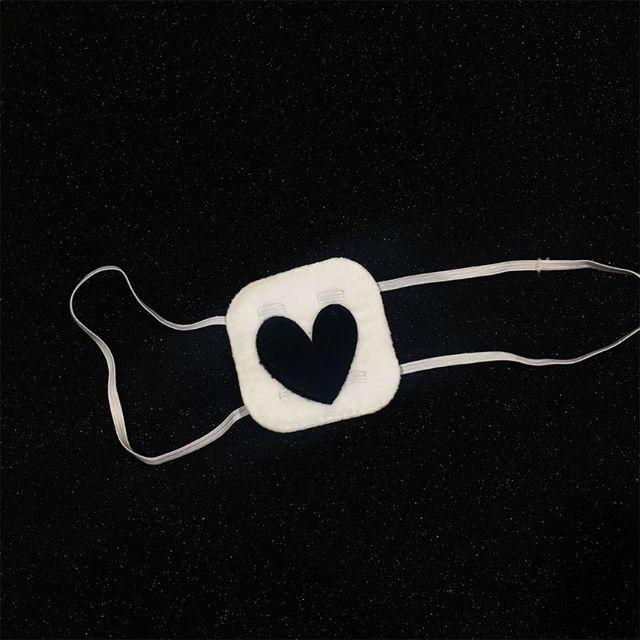 Купить повязка на глаза с вышивкой в форме сердца картинки цена
