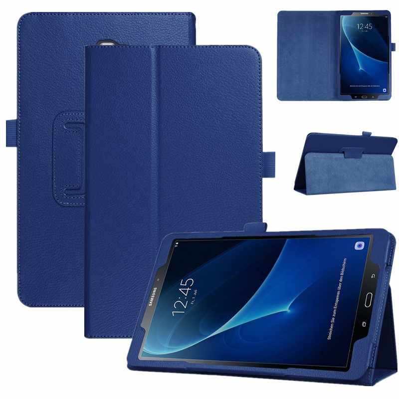 Tablet Case untuk Samsung Galaxy Tab 10.5 T590 T595 SM-T590 2018 Cover Leather Folding Stand Flip Smart Cover Taba 10.5 Inci + Film
