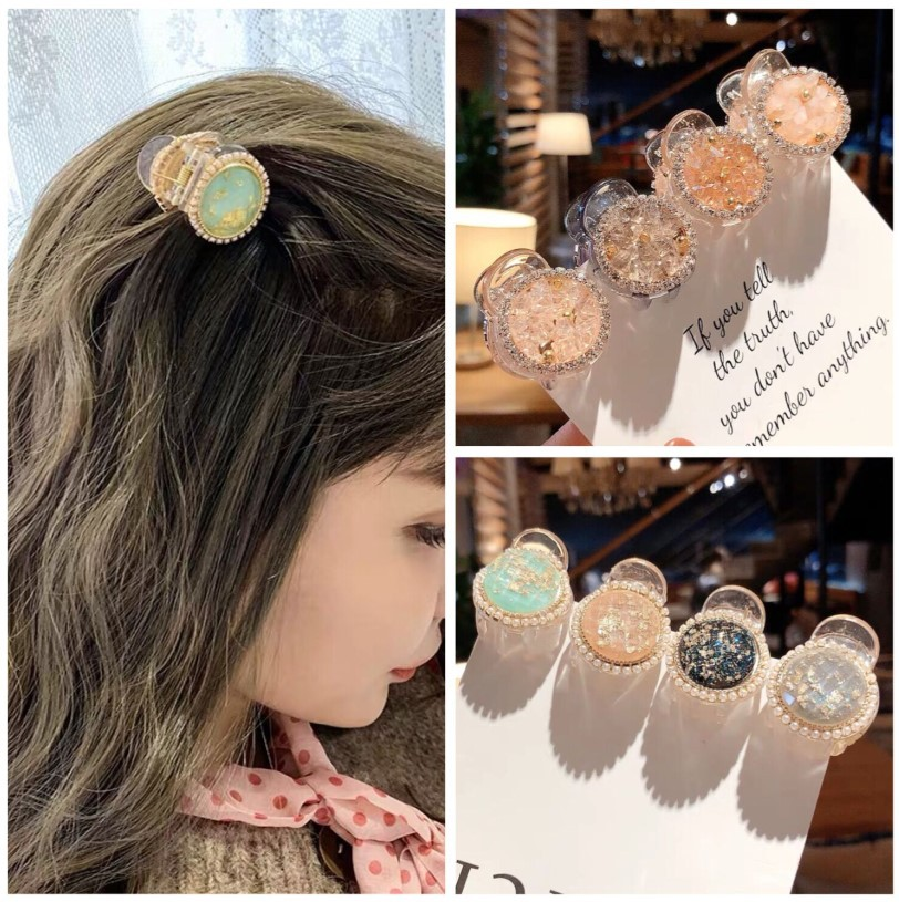 2020 new Pearl Butterfly Hair Clip Claws Geometric Hair Claw Clamps Hair Crab Color Accessories Hairpin small for Women Girls