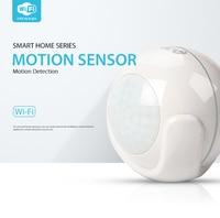 2019 newlys inteligente wifi pir sensor de movimento detector sistema alarme em casa suporte smartlink net h1