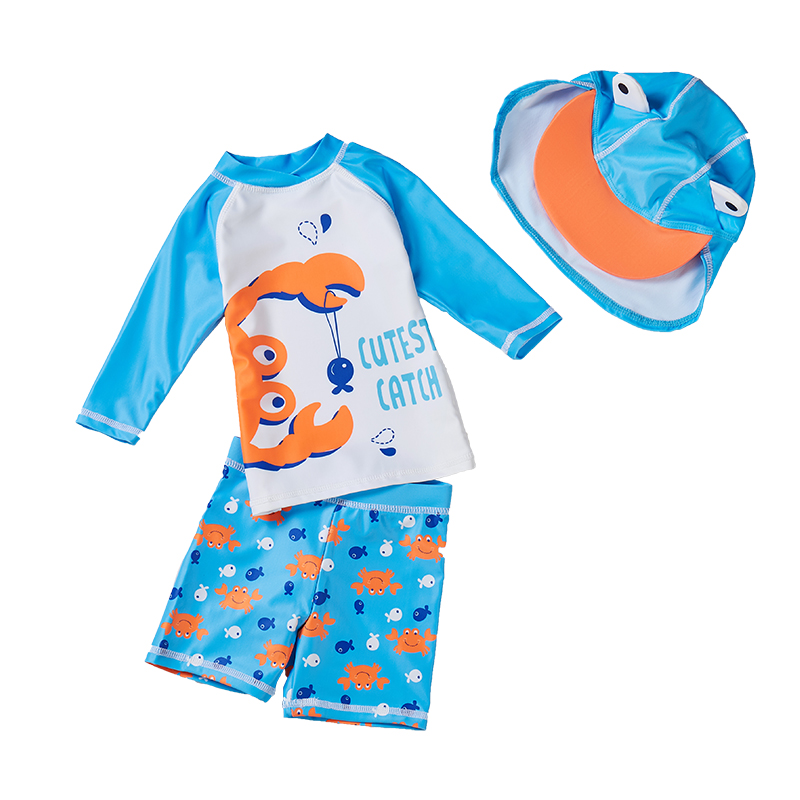 Baby and child Split swimsuit Height: 75-135 cm Small, medium and large boys Sunscreen quick drying Seaside beach Swimwear pants