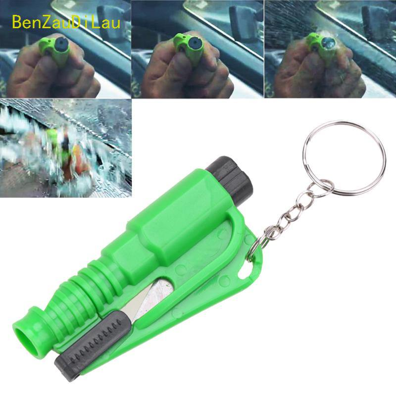 Car Emergency Escape Tool Mini Safety Hammer Broken Window Glass Hammer Seat Belt Rescue Cutter Escape Tool Car Keychain