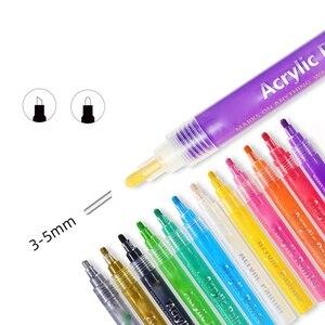 Image 2 - 24 Màu Sắc Sơn Acrylic Bút Bút Bút Sơn Cho Đá Tranh Vải Thủ Công Diy Thẻ Làm Nghệ Thuật Đồ Dùng Học Tập