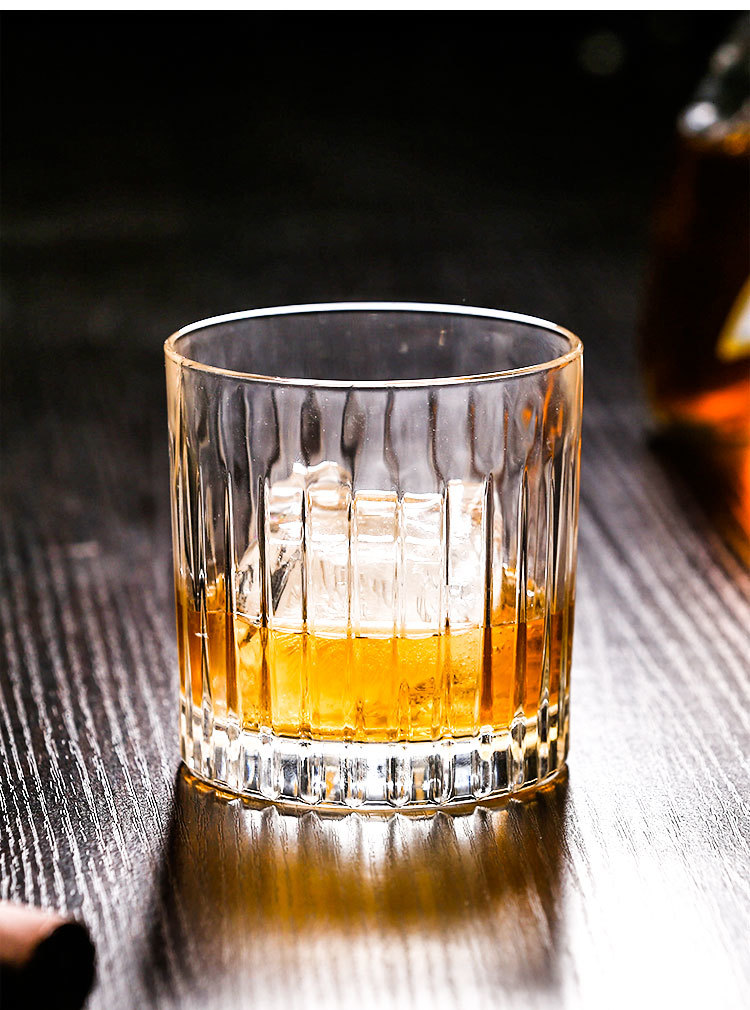 Западная классика, вертикальное зерно, старомодный стеклянный бар для виски, для домашнего офиса, Спиртные напитки, бокалы для вина, бокалы