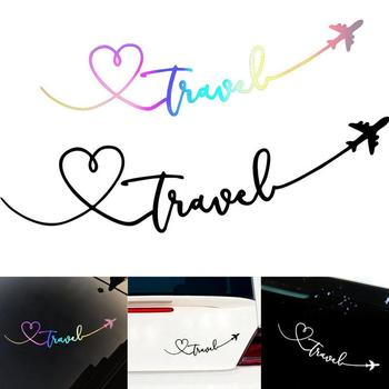 1pcs Creative Car Stickers Decals Aircraft Channel Signature Reflective Letters Vinyls Decals Fashion Car Full Body Stickers image