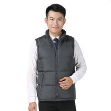 Man Winter Thicken Fleece Puffer Vest Two Side Wear Quilted Waistcoat Male Grey Black Navy Blue Puff Reversible Vests Outerwear black fashion side pockets hoodie quilted outerwear