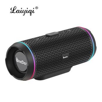 Laiyiqi-altavoz TWS con Bluetooth 5,0, altavoz LED con Radio FM, altavoces duales,...